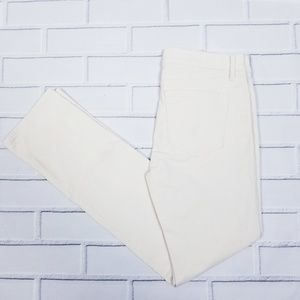 NWT LOFT Modern Straight Cream Corderoy Pants